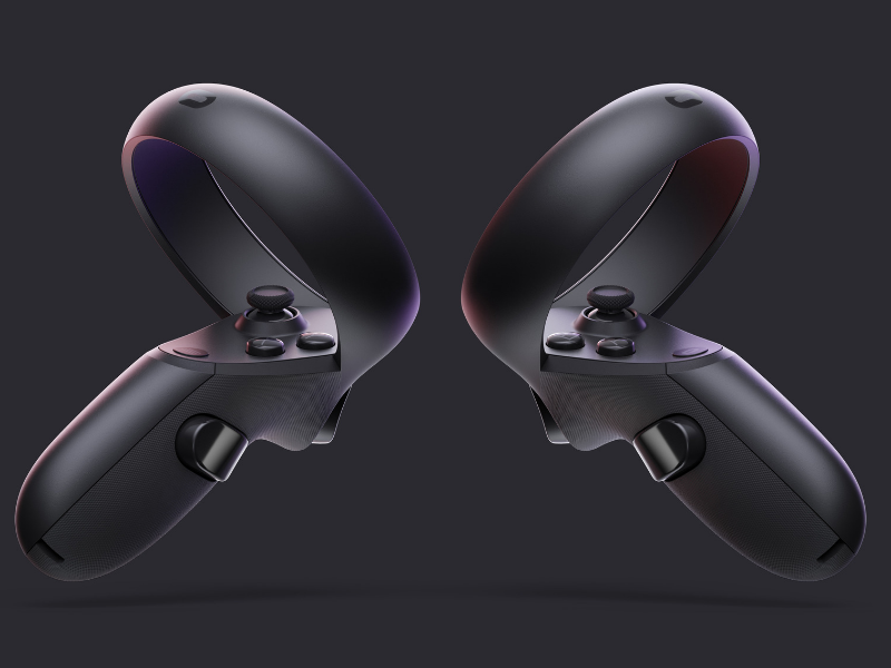 Oculus Quest VR Gaming Headset Touch Controllers