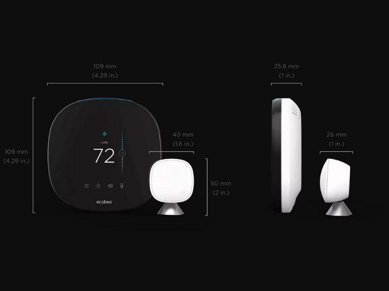 Ecobee SmartThermostat Dimensions