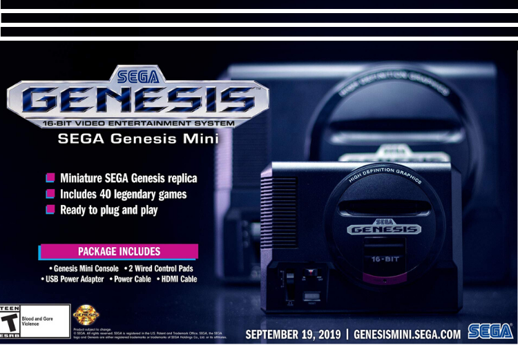 Tech Christmas Gifts 2019 - SEGA Genesis Mini Console