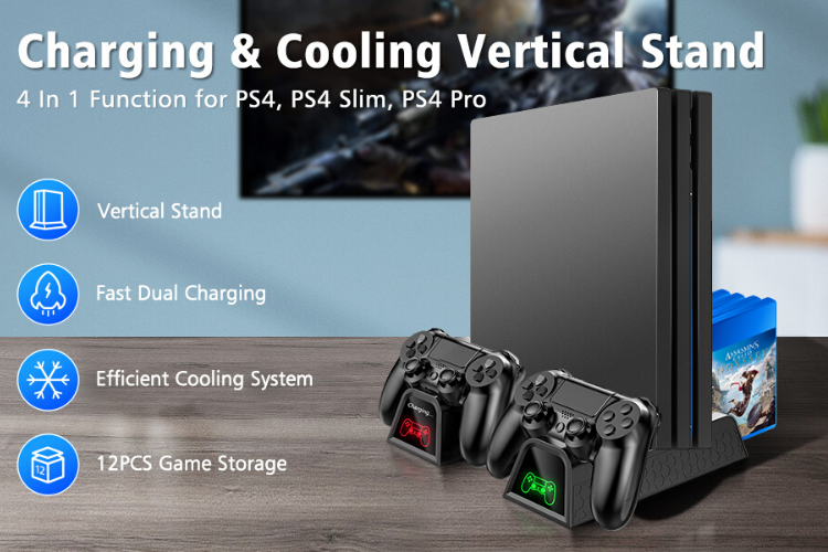 OIVO PS4 Pro Cooler - PS4 Accessories
