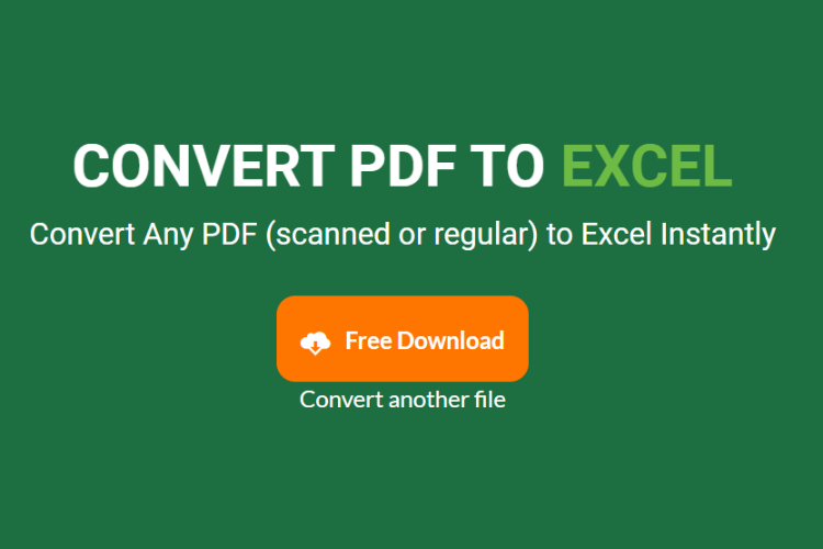 PDF to Excel Conversion - Download files