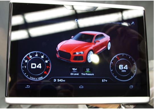 Audi Smart Display - Exciting Mobile Technologies At CES 2014