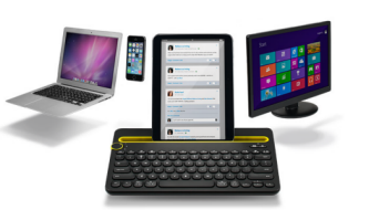 Logitech Announces K480 Bluetooth Keyboard for Hooking up to 3 Devices Simultaneously