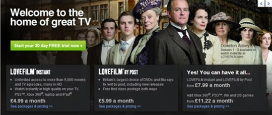 Where to Watch Movies Online - lovefilm