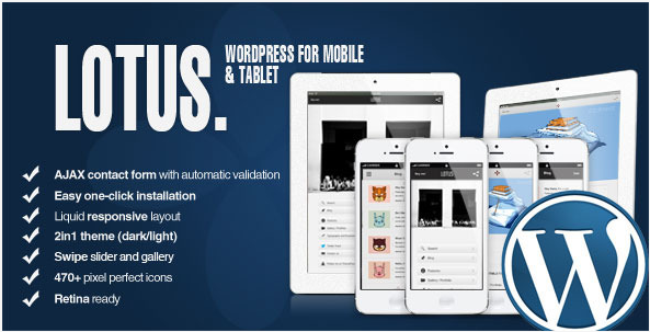 Lotus Mobile Tablet Template - Mobile Website Templates