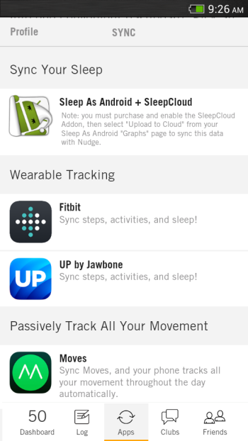 Apps that sync