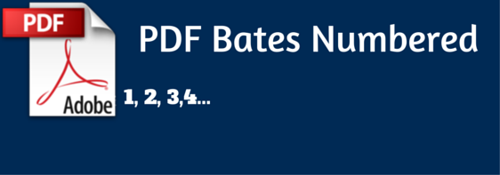 PDF Bates Numbered fi